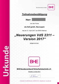 Neuerungen VdS 2311